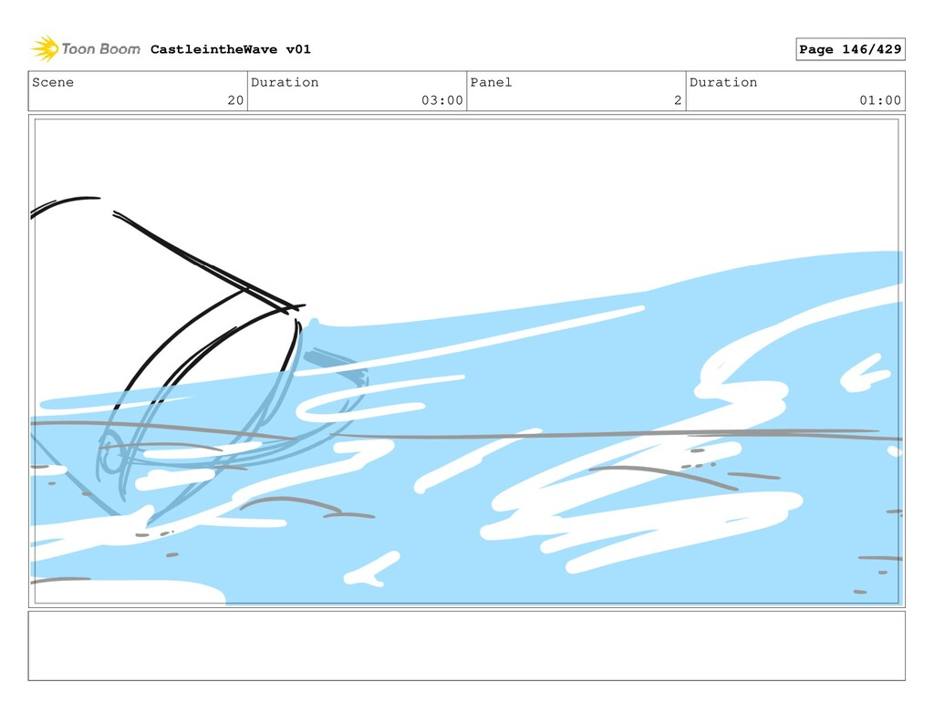 Scene 20 Duration 03:00 Panel 2 Duration 01:00 ...