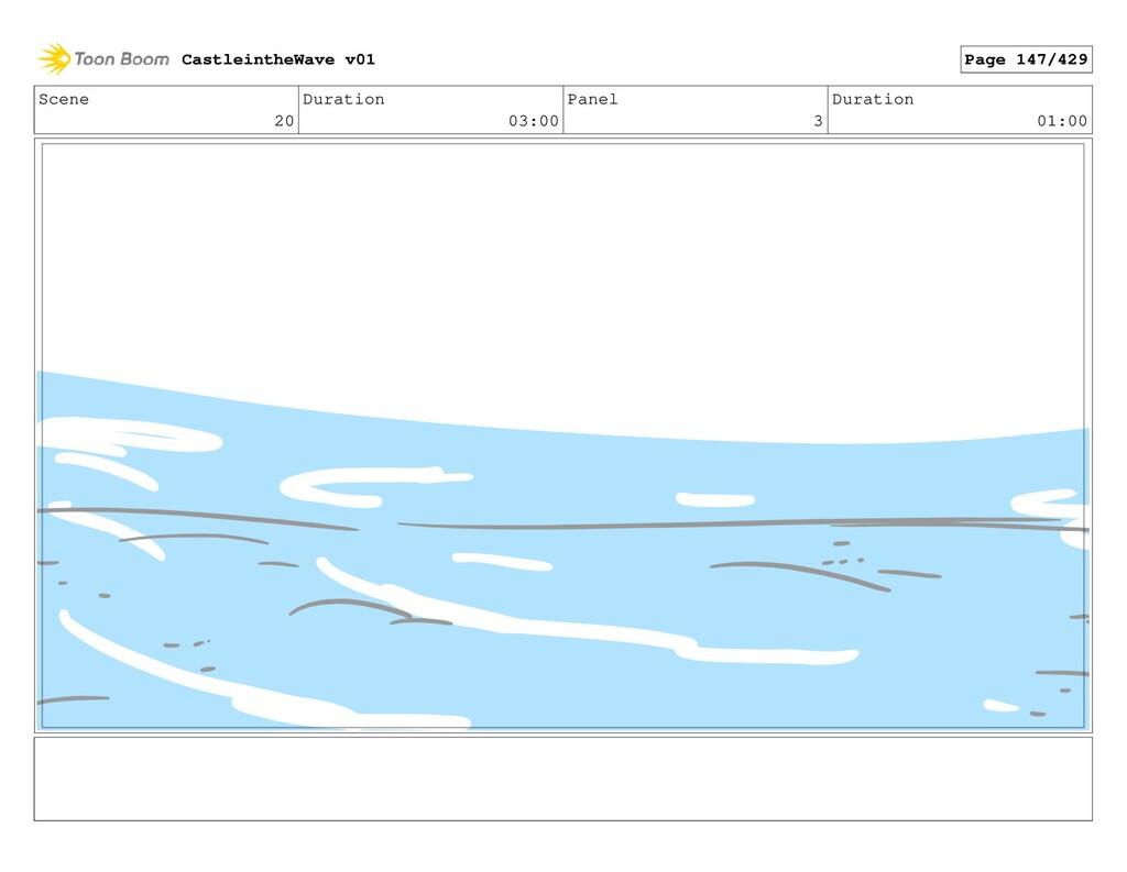 Scene 20 Duration 03:00 Panel 3 Duration 01:00 ...