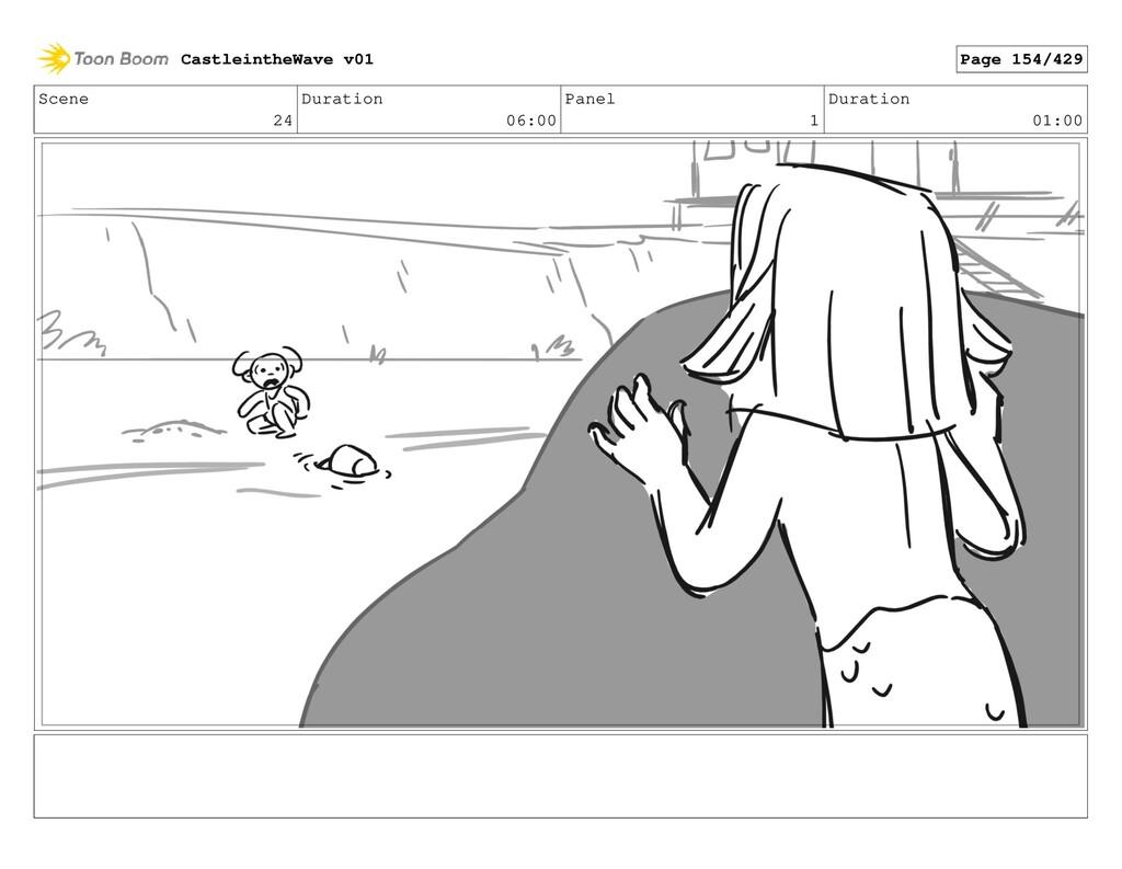Scene 24 Duration 06:00 Panel 1 Duration 01:00 ...