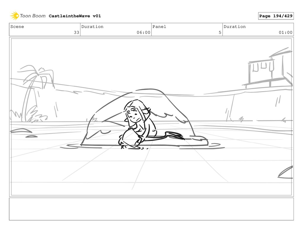 Scene 33 Duration 06:00 Panel 5 Duration 01:00 ...
