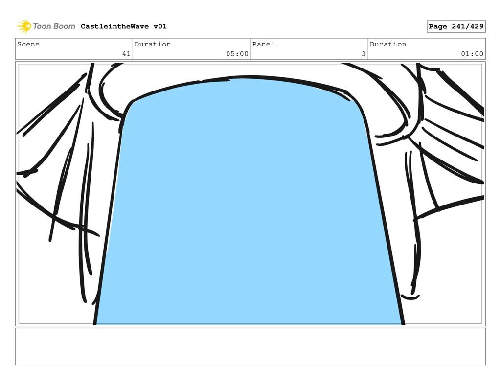 Scene 41 Duration 05:00 Panel 3 Duration 01:00 ...