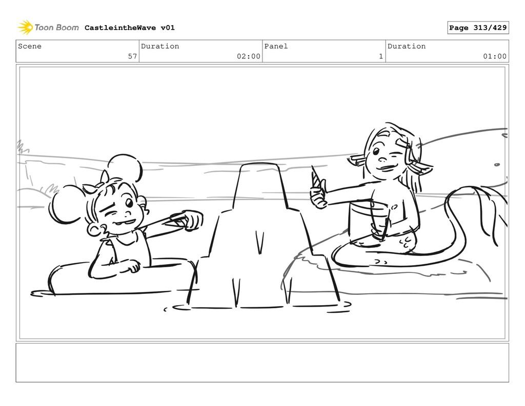 Scene 57 Duration 02:00 Panel 1 Duration 01:00 ...