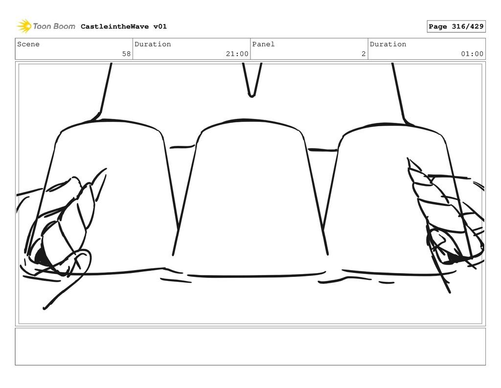 Scene 58 Duration 21:00 Panel 2 Duration 01:00 ...