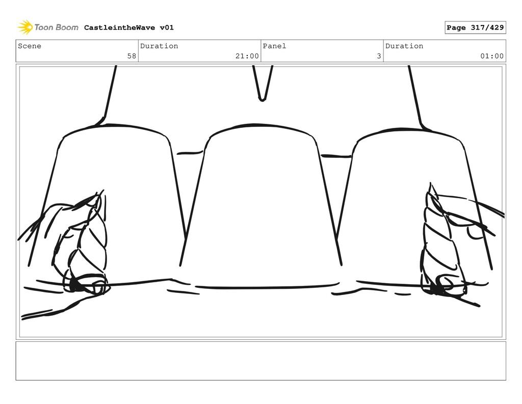 Scene 58 Duration 21:00 Panel 3 Duration 01:00 ...
