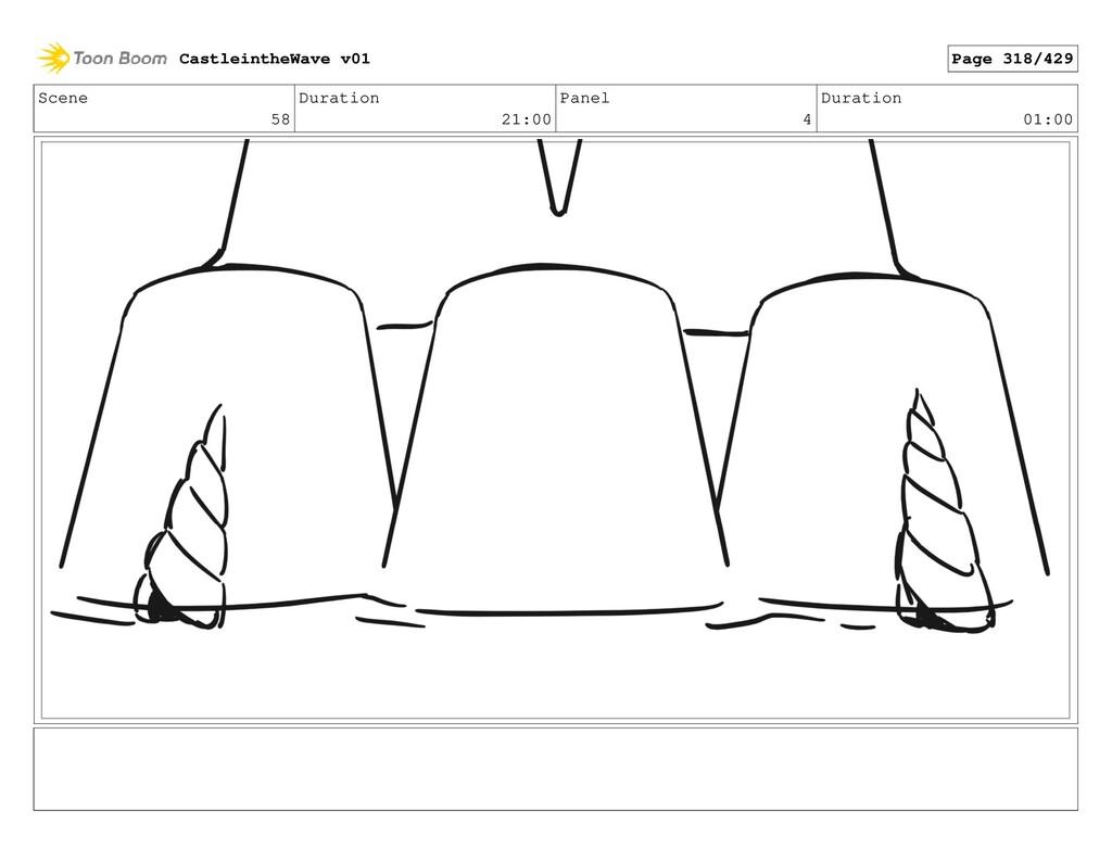 Scene 58 Duration 21:00 Panel 4 Duration 01:00 ...