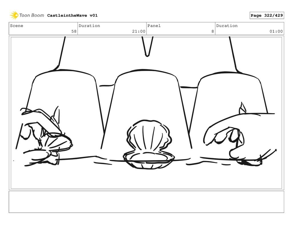 Scene 58 Duration 21:00 Panel 8 Duration 01:00 ...
