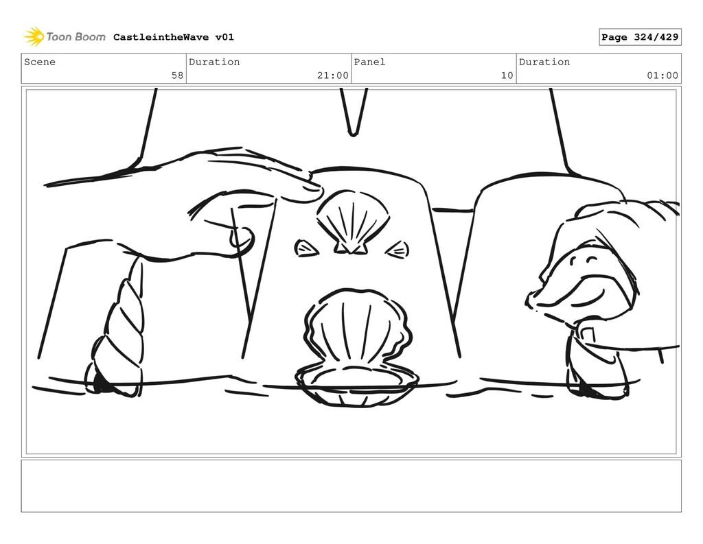 Scene 58 Duration 21:00 Panel 10 Duration 01:00...
