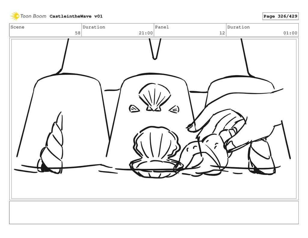 Scene 58 Duration 21:00 Panel 12 Duration 01:00...