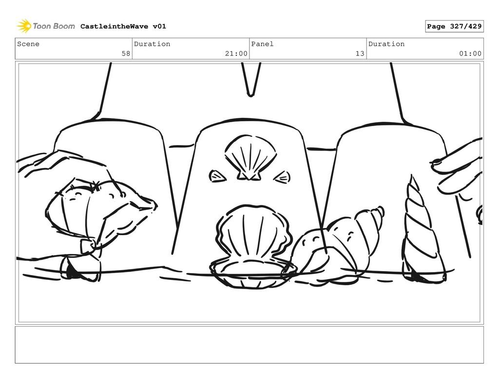 Scene 58 Duration 21:00 Panel 13 Duration 01:00...