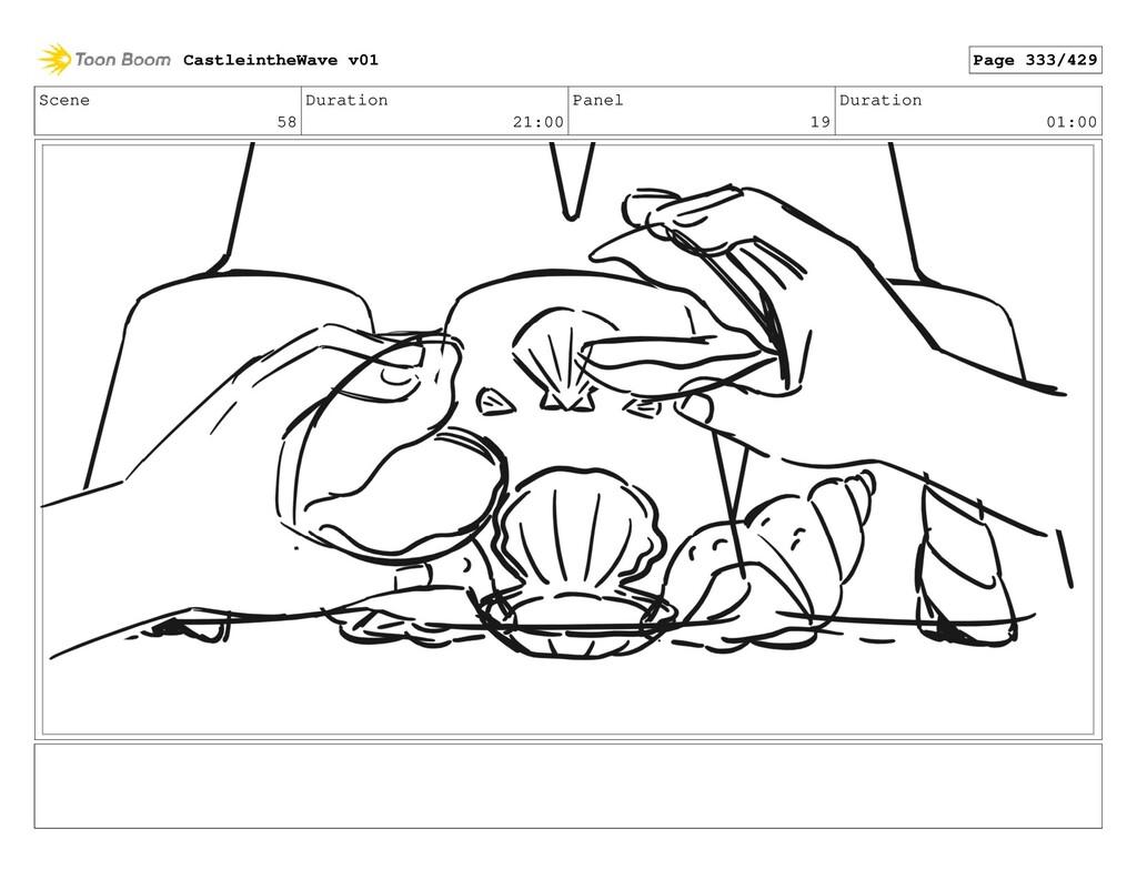 Scene 58 Duration 21:00 Panel 19 Duration 01:00...