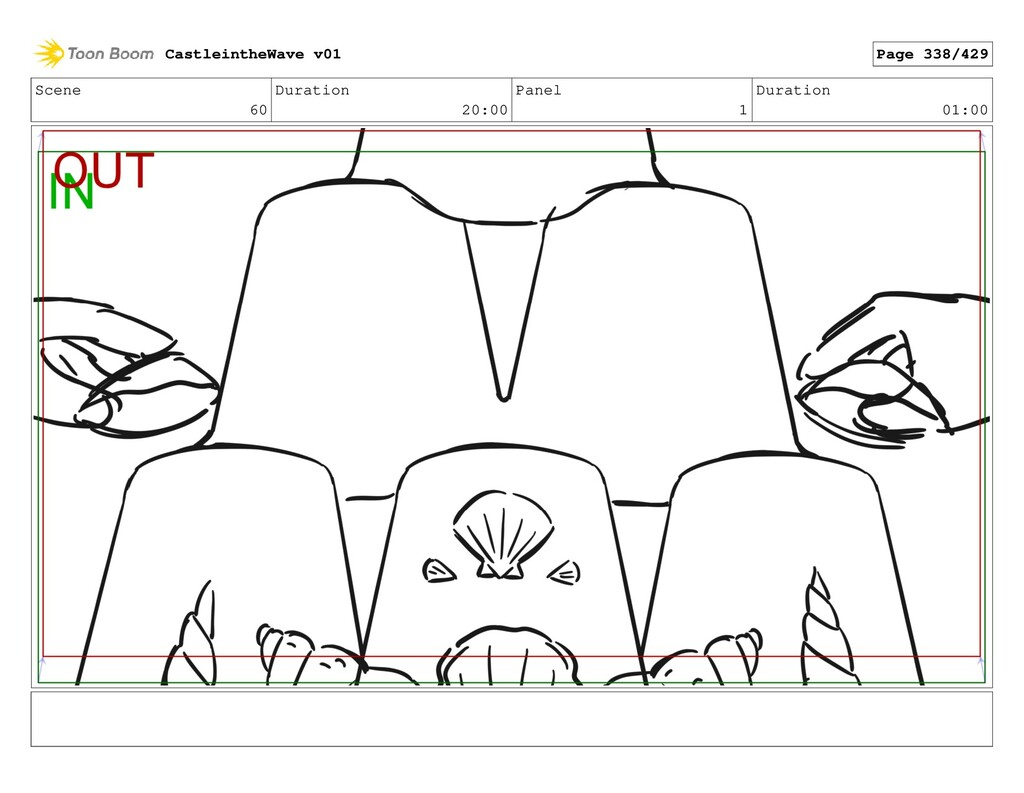 Scene 60 Duration 20:00 Panel 1 Duration 01:00 ...