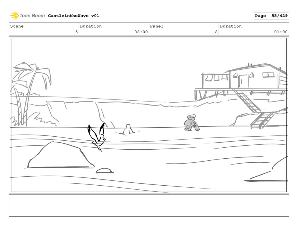 Scene 5 Duration 08:00 Panel 8 Duration 01:00 C...