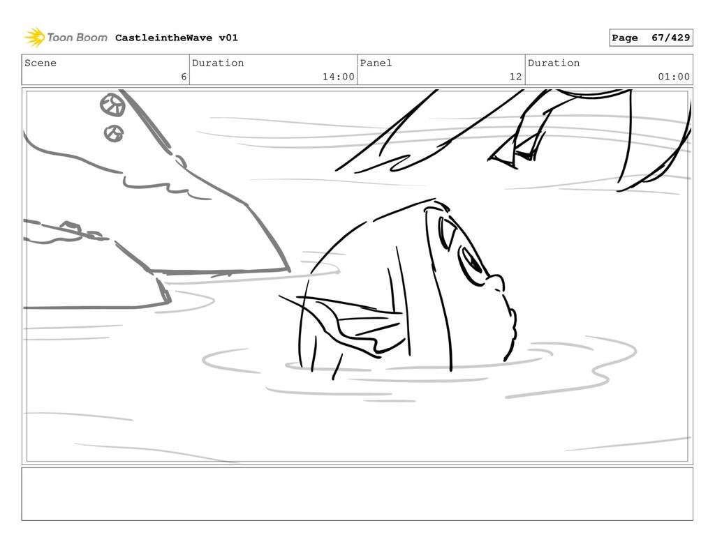 Scene 6 Duration 14:00 Panel 12 Duration 01:00 ...