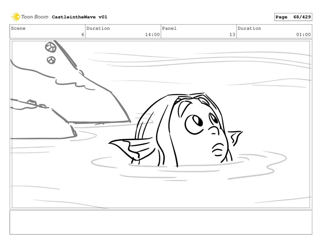 Scene 6 Duration 14:00 Panel 13 Duration 01:00 ...