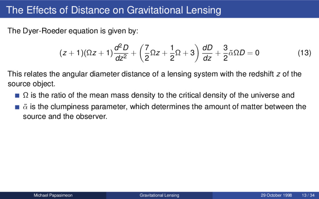The Effects of Distance on Gravitational Lensin...