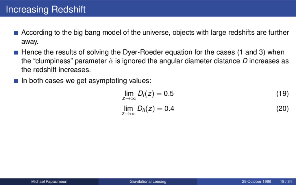 Increasing Redshift According to the big bang m...