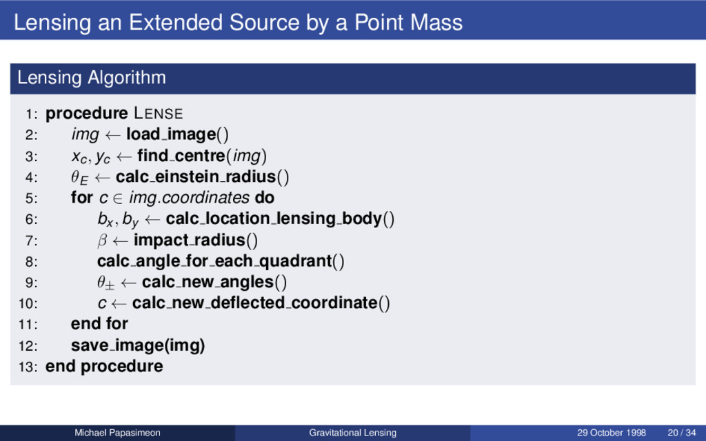 Lensing an Extended Source by a Point Mass Lens...