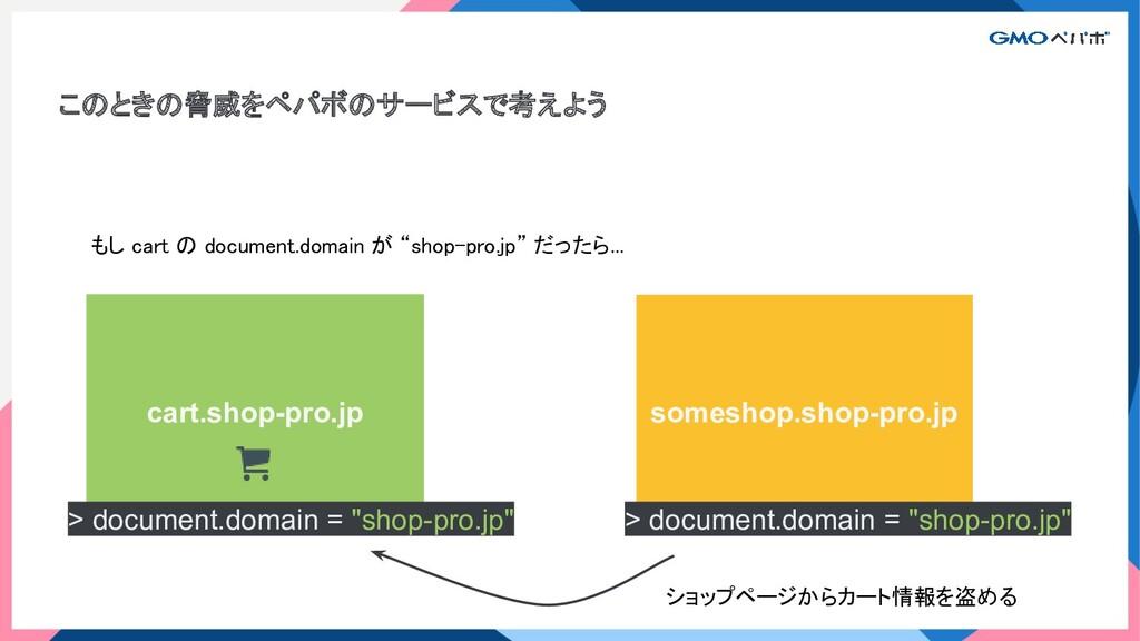 このときの脅威をペパボのサービスで考えよう cart.shop-pro.jp someshop...