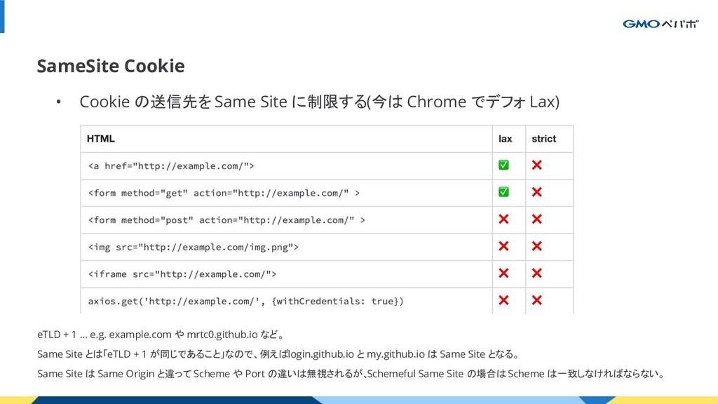 SameSite Cookie • Cookie の送信先を Same Site に制限する(...