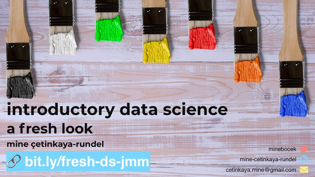 introductory data science a fresh look  bit.ly/...