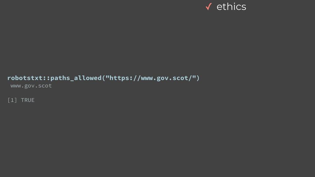 "robotstxt::paths_allowed(""https://www.gov.scot/..."