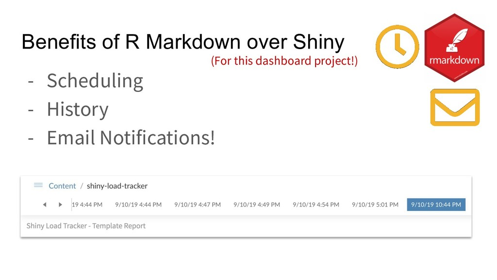 Benefits of R Markdown over Shiny - Scheduling ...