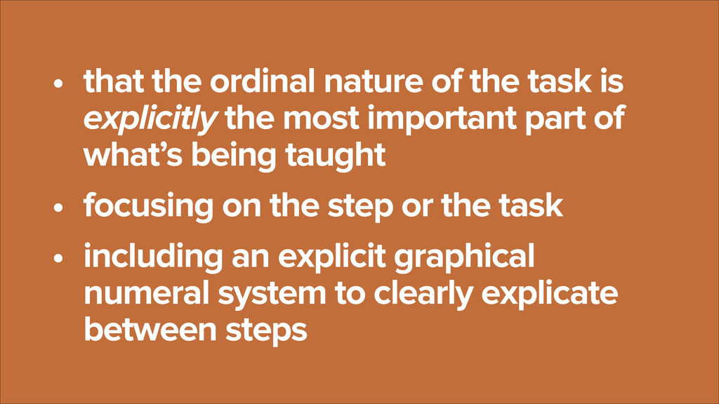• that the ordinal nature of the task is explic...