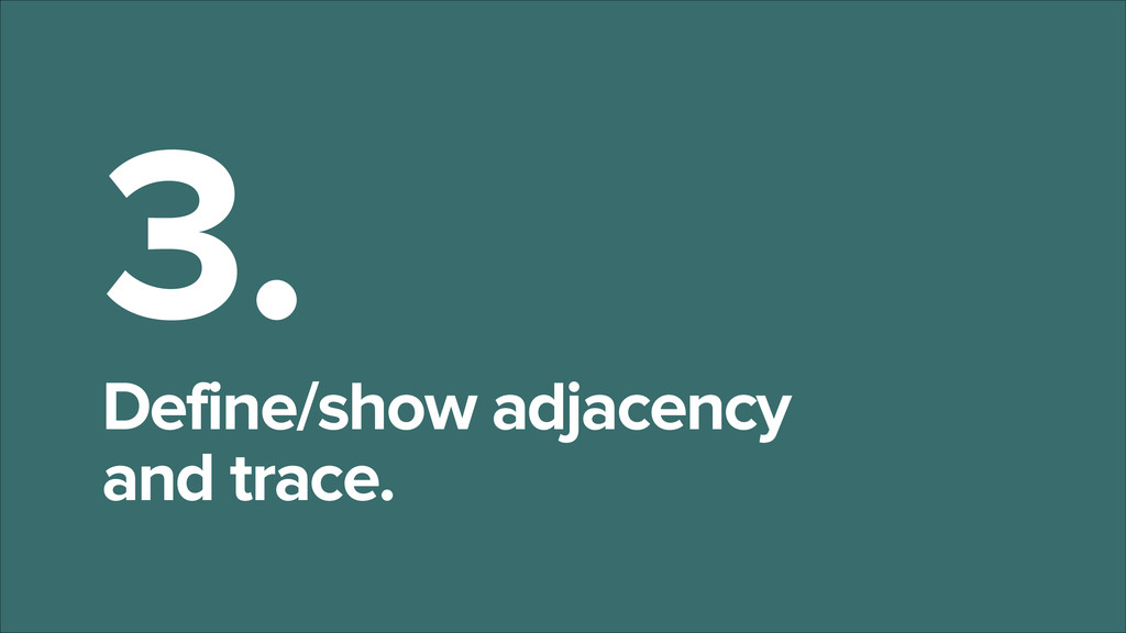 3. Define/show adjacency and trace.