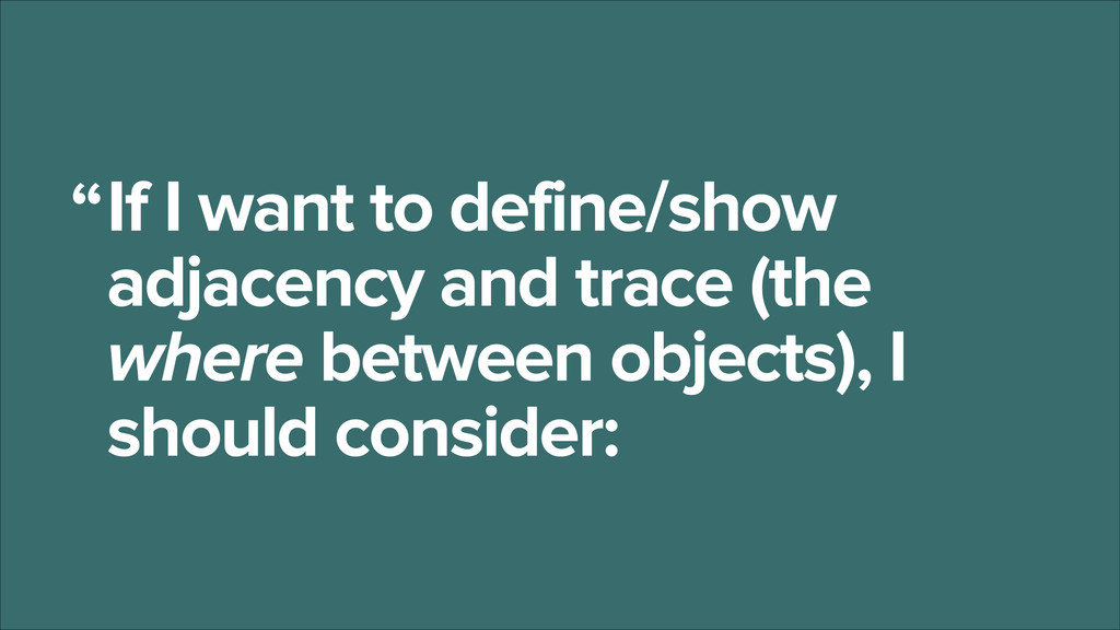 If I want to define/show adjacency and trace (t...