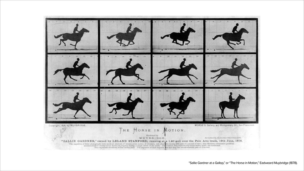 """""""Sallie Gardner at a Gallop,"""" or """"The Horse in ..."""