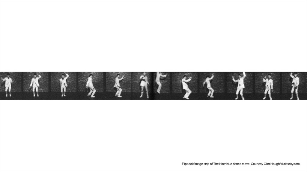 Flipbook/image strip of The Hitchhike dance mov...