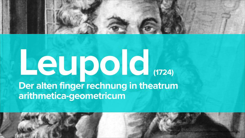 Leupold (1724) Der alten finger rechnung in th...