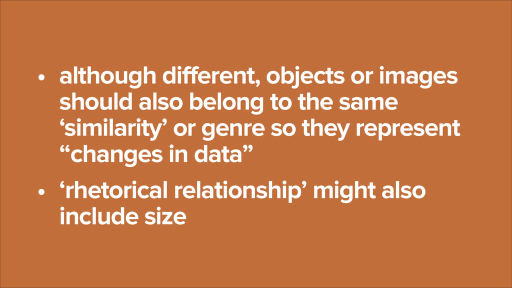 • although different, objects or images should ...