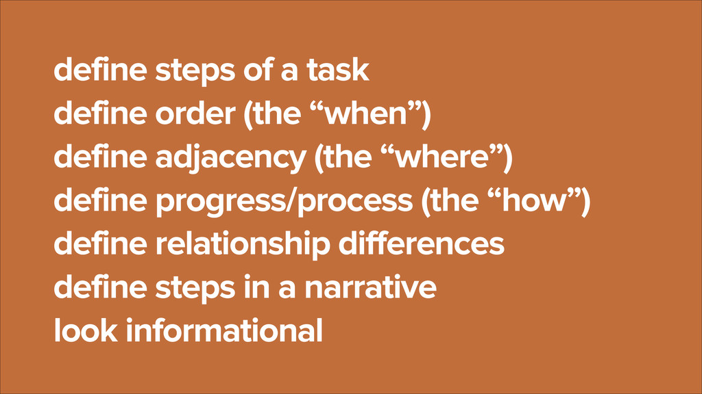 """define steps of a task define order (the """"when""""..."""