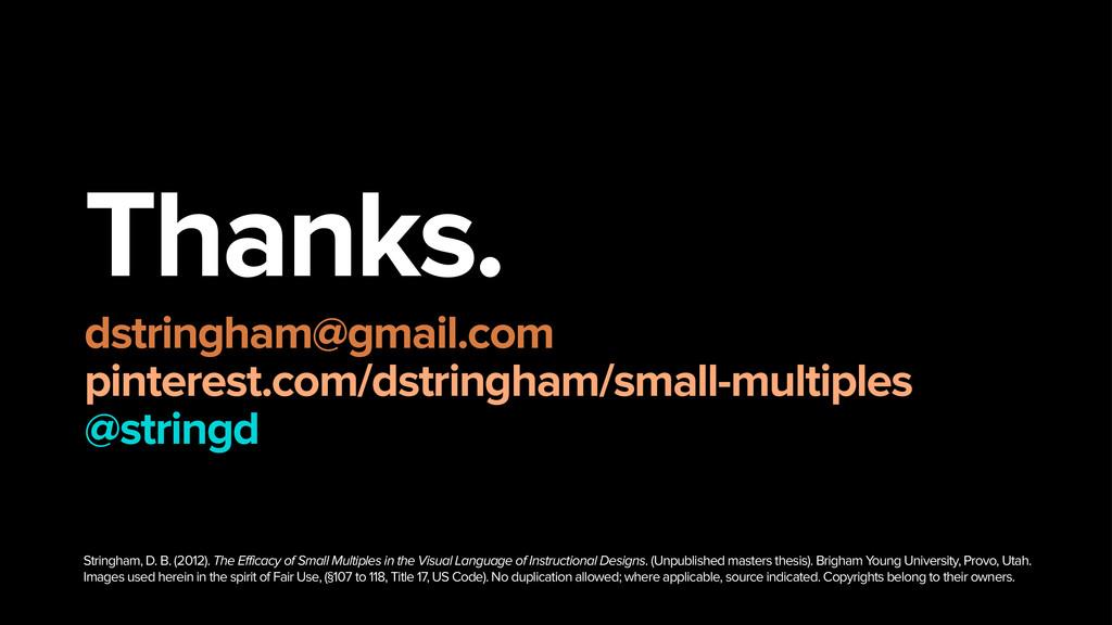 Thanks. dstringham@gmail.com pinterest.com/ds...