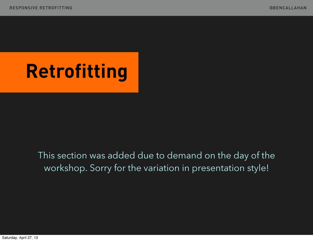 @BENCALLAHAN Retrofitting RESPONSIVE RETROFITTI...