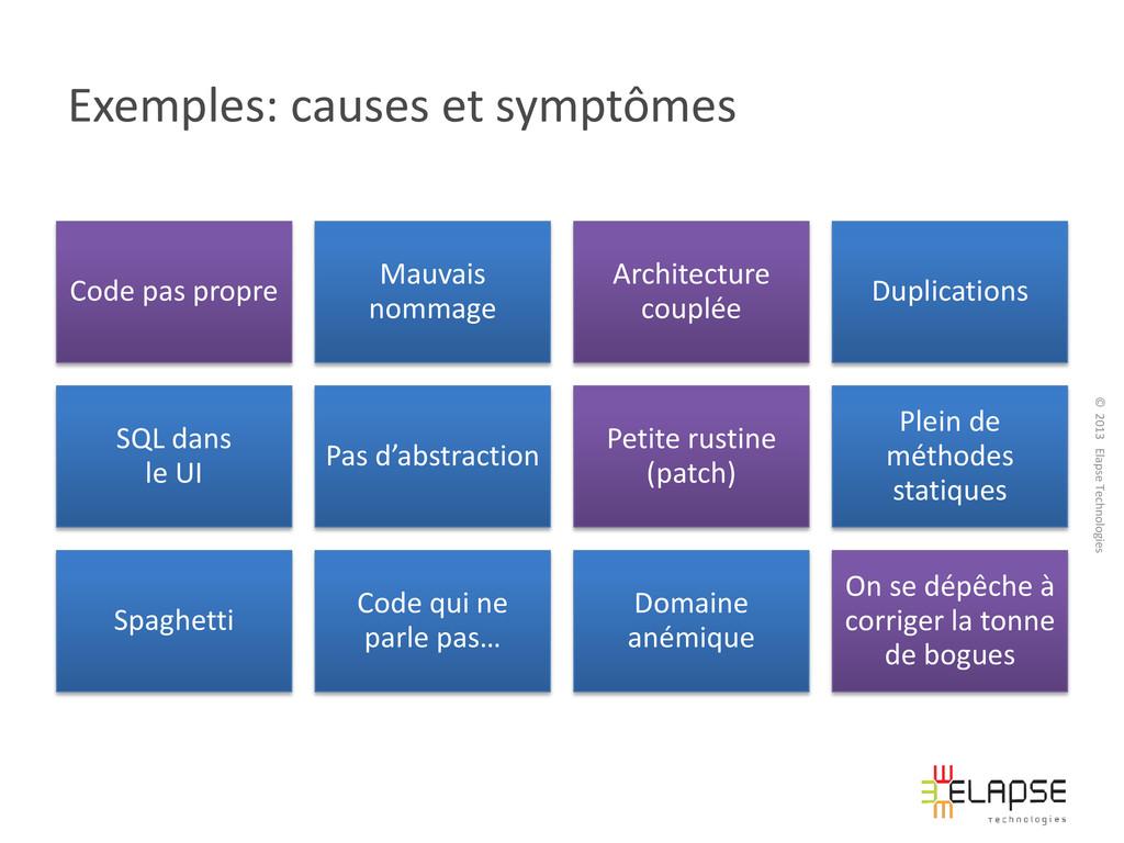 © 2013 Elapse Technologies Exemples: causes et ...