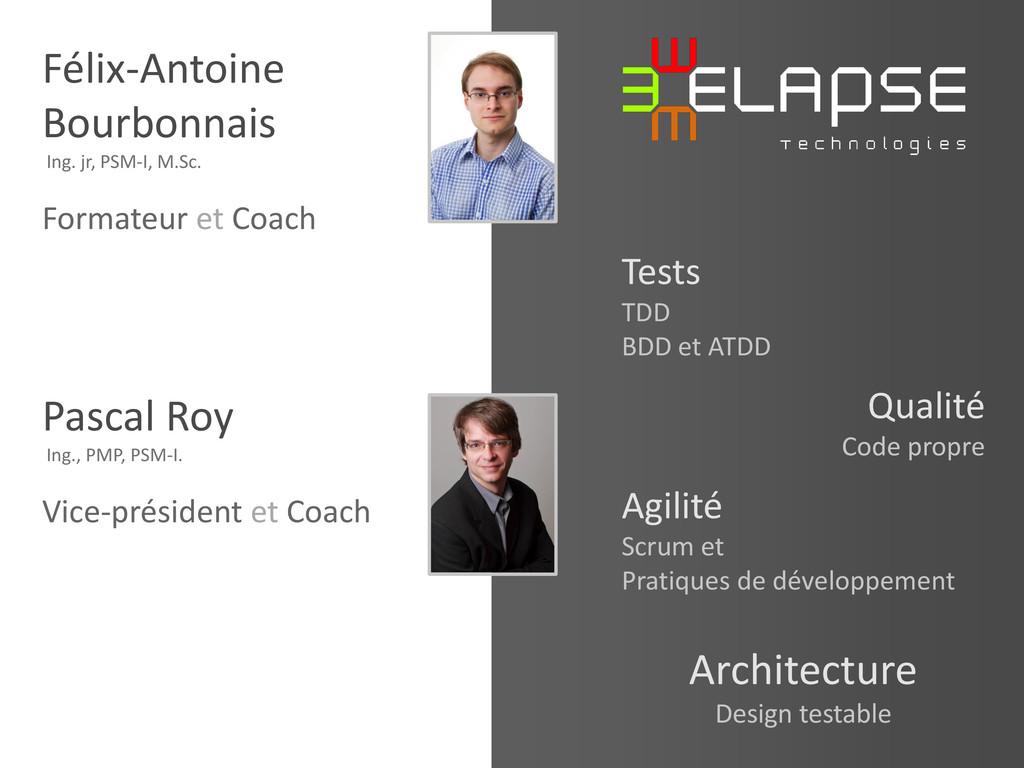 © 2013 Elapse Technologies Félix-Antoine Bourbo...