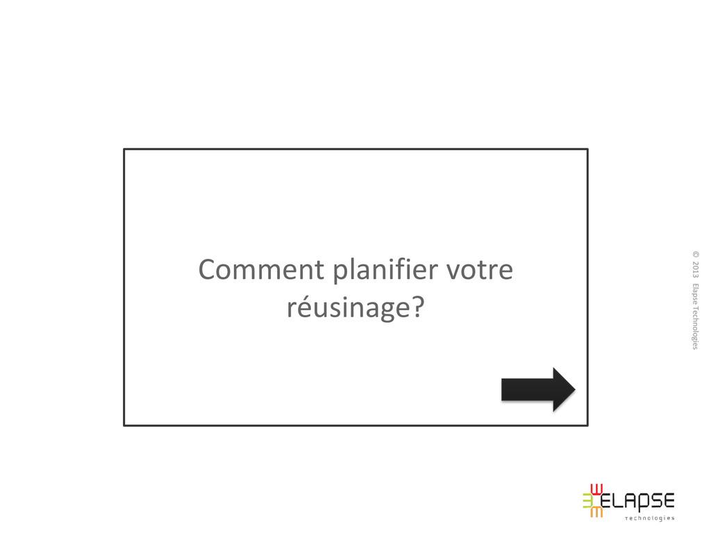 © 2013 Elapse Technologies Comment planifier vo...