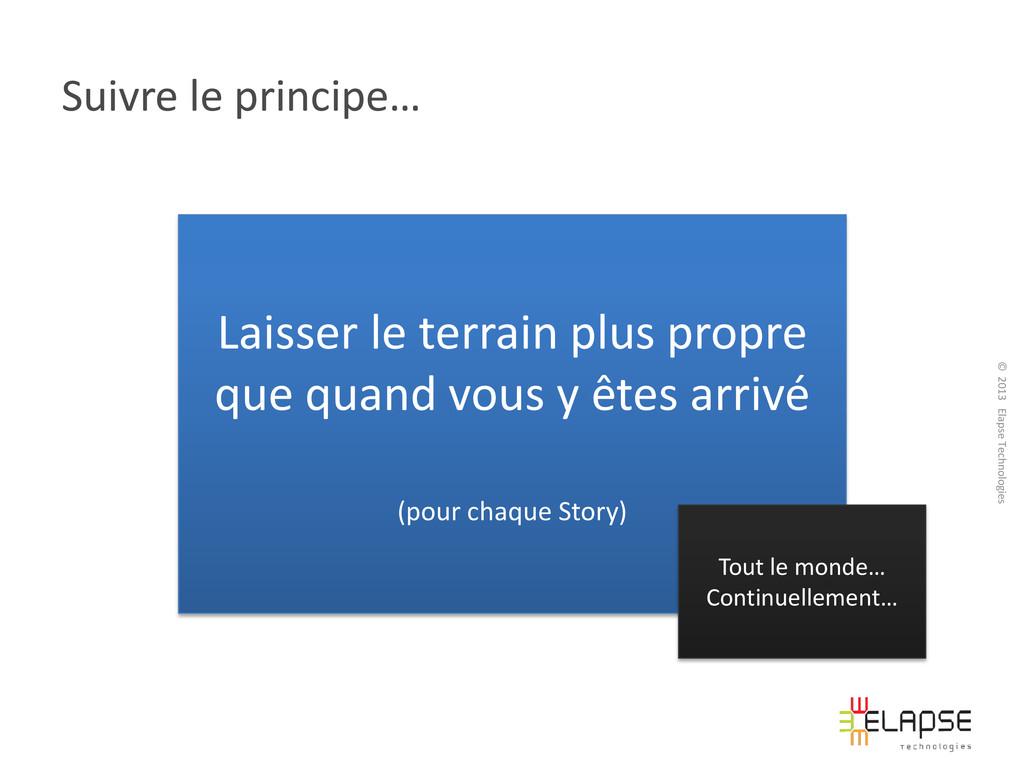 © 2013 Elapse Technologies Suivre le principe… ...