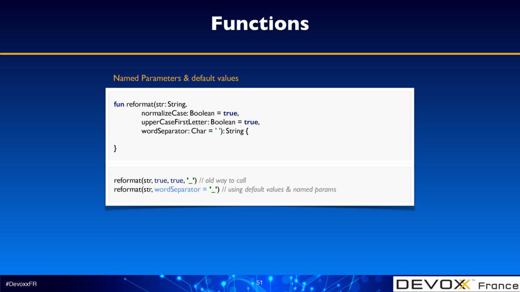 #DevoxxFR 51 Functions fun reformat(str: String...