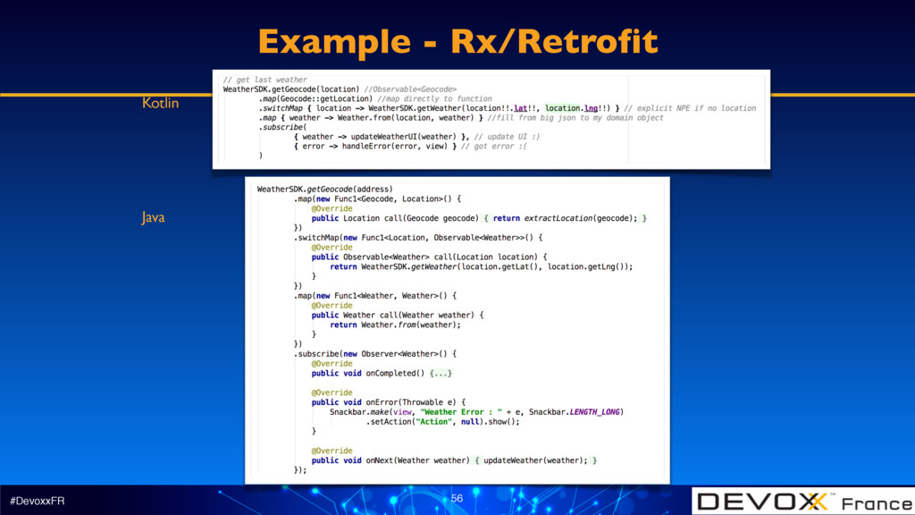 #DevoxxFR 56 Example - Rx/Retrofit Kotlin Java