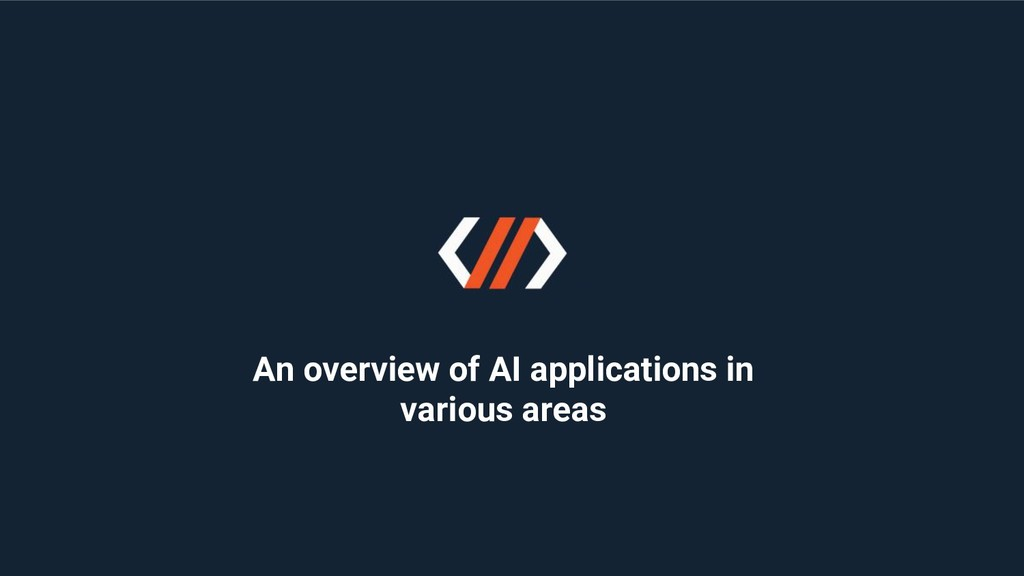 An overview of AI applications in various areas