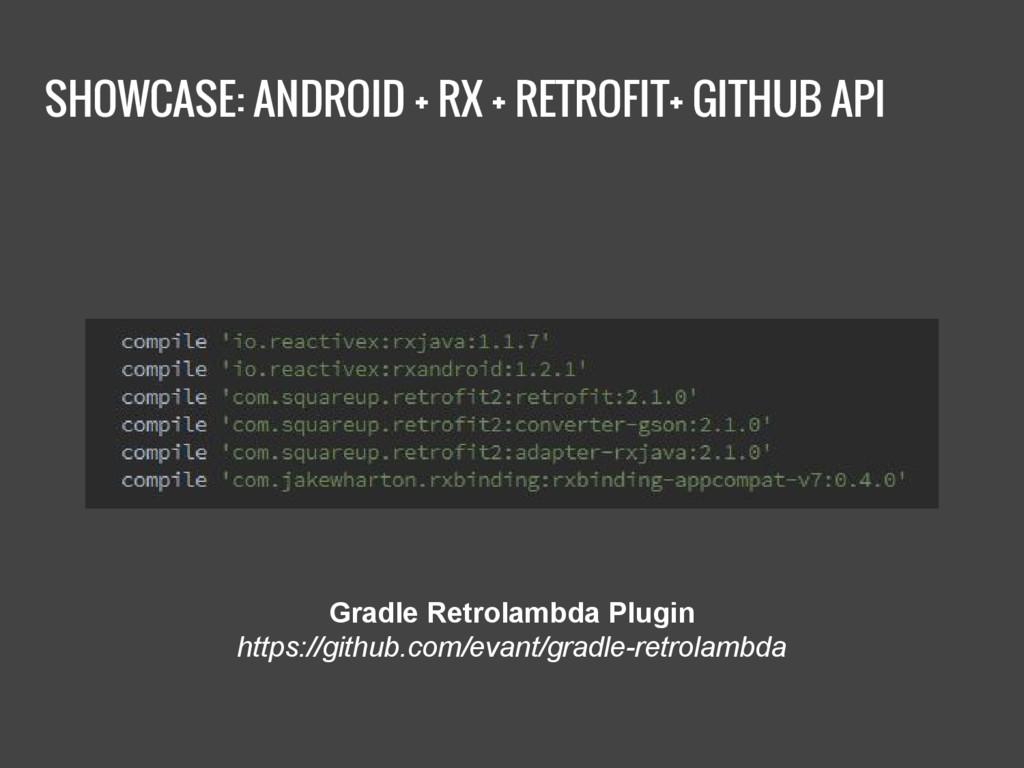 SHOWCASE: ANDROID + RX + RETROFIT+ GITHUB API G...