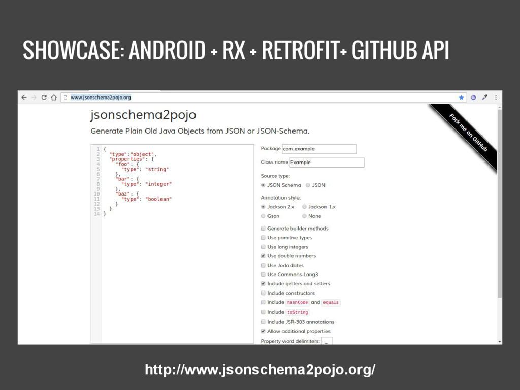 SHOWCASE: ANDROID + RX + RETROFIT+ GITHUB API h...