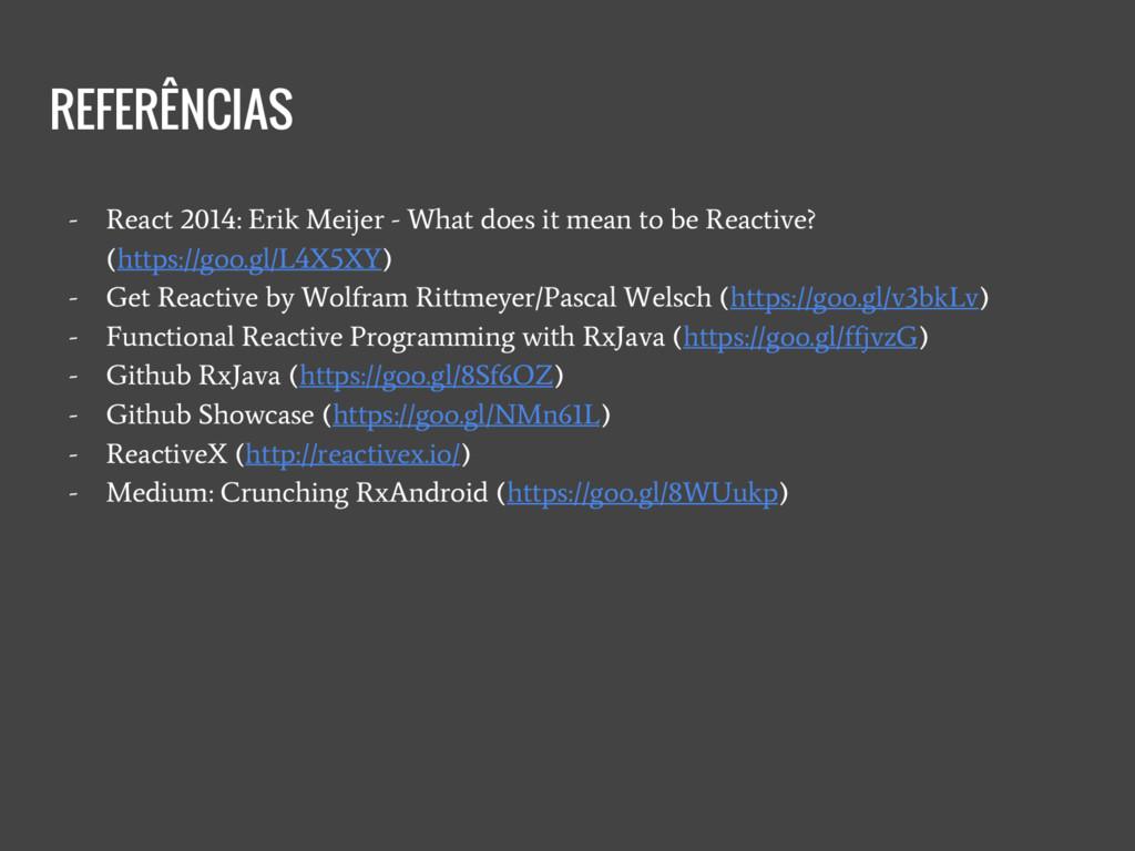 REFERÊNCIAS - React 2014: Erik Meijer - What do...