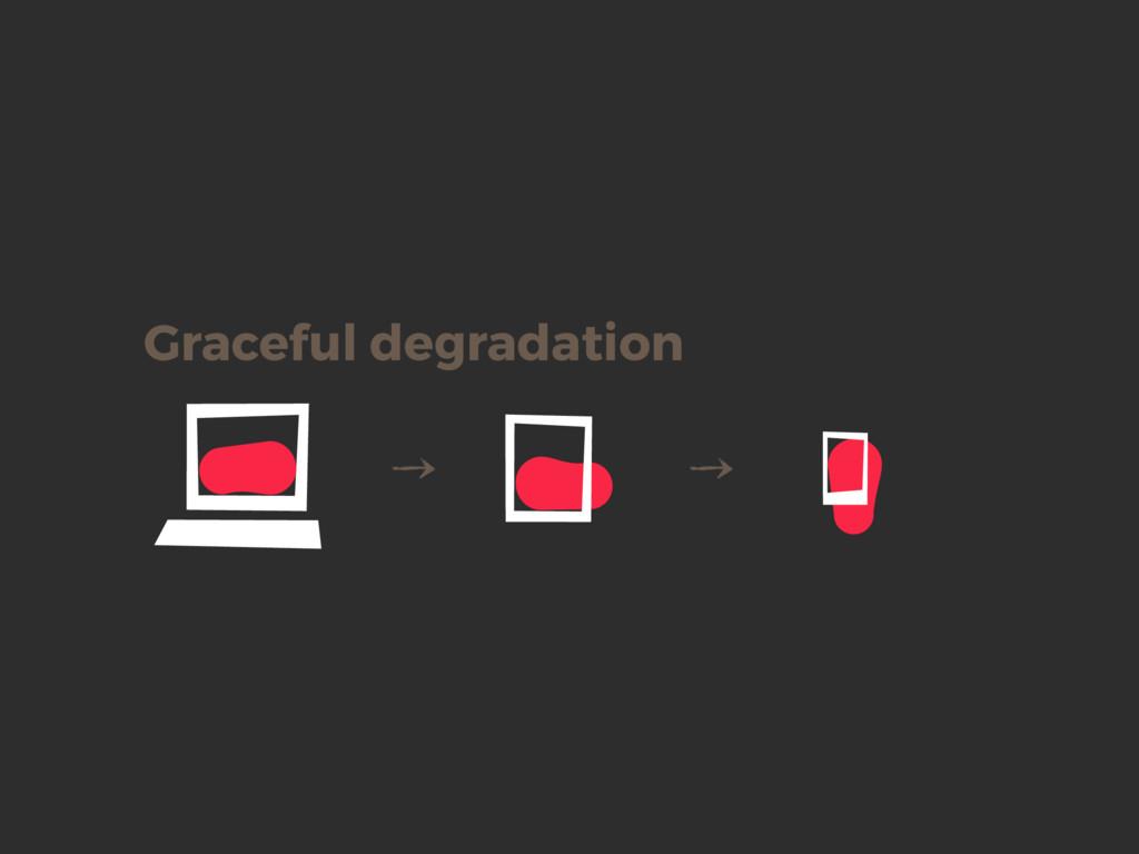 Graceful degradation