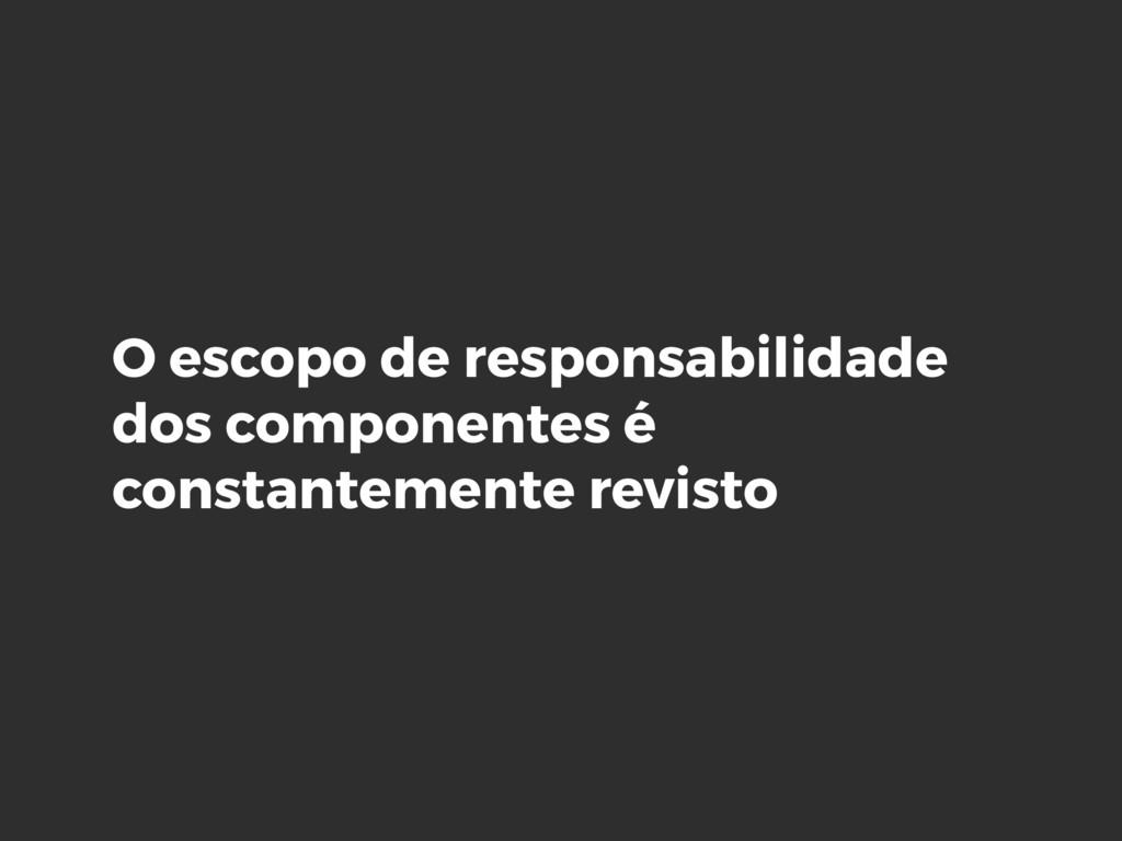 O escopo de responsabilidade dos componentes é ...