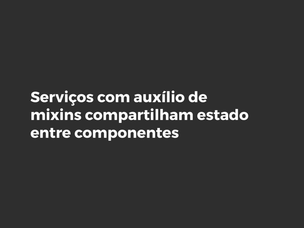 Serviços com auxílio de mixins compartilham est...