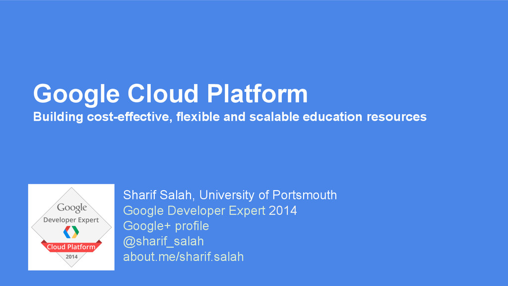 Sharif Salah, University of Portsmouth Google D...